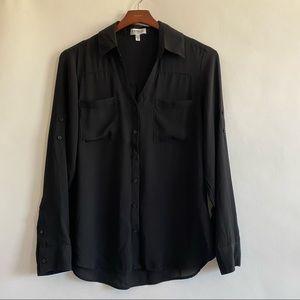 Express Portofino blouse black size medium